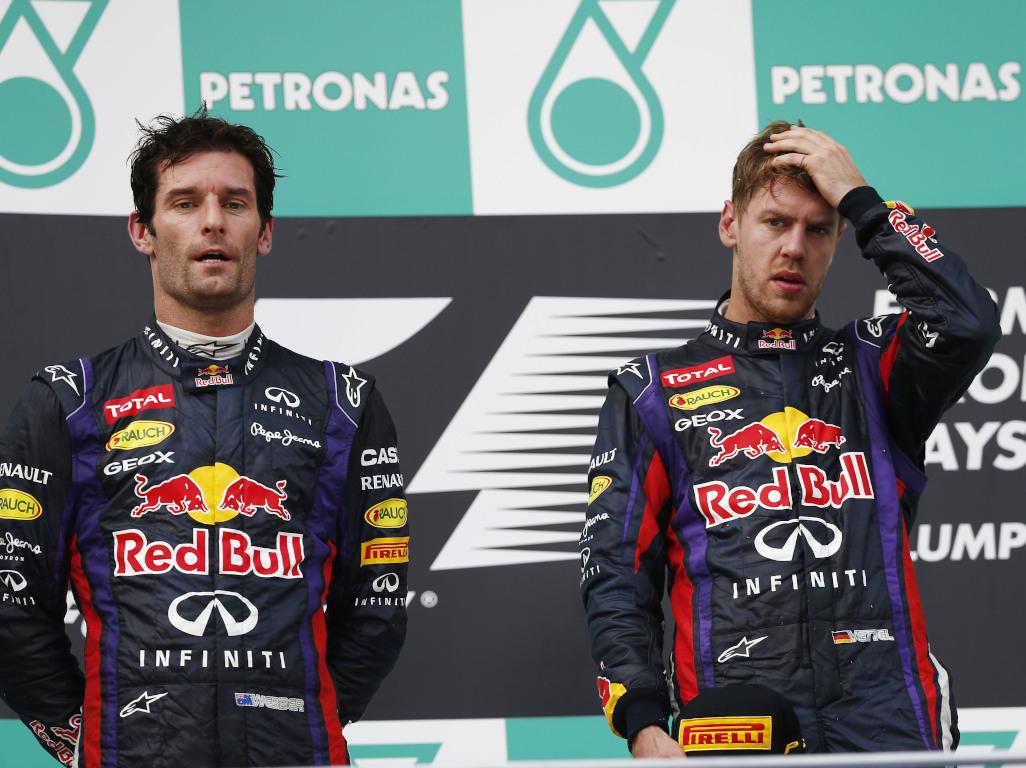 Vettel Webber Malaysia 2013