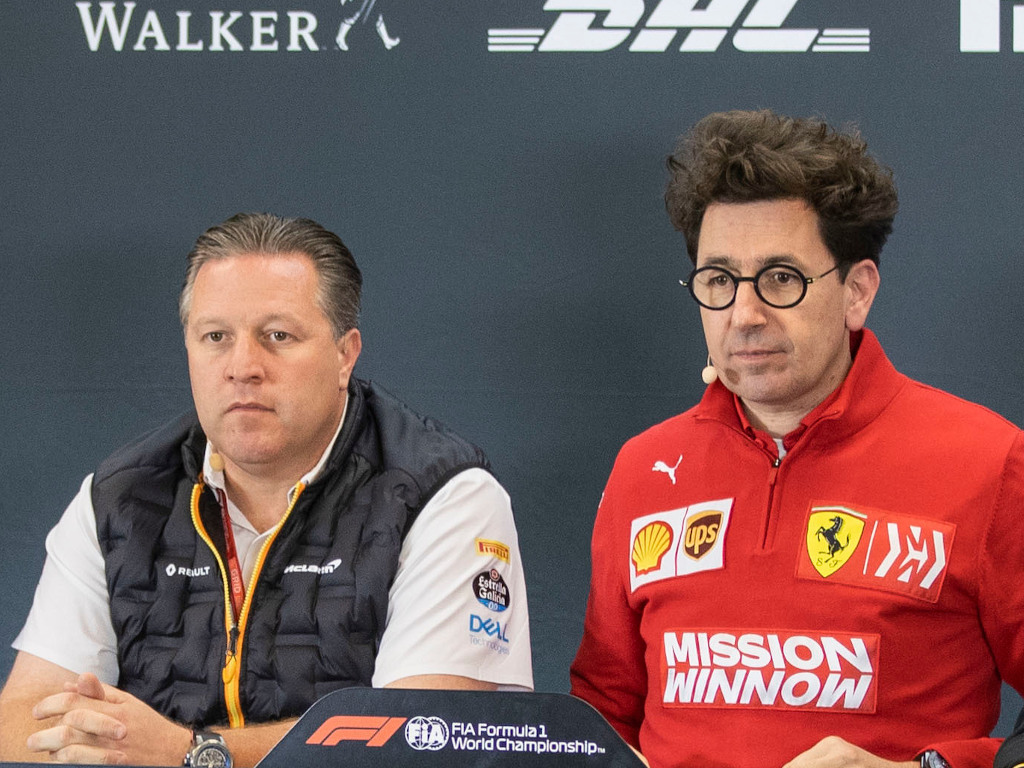 Zak Brown and Mattia Binotto