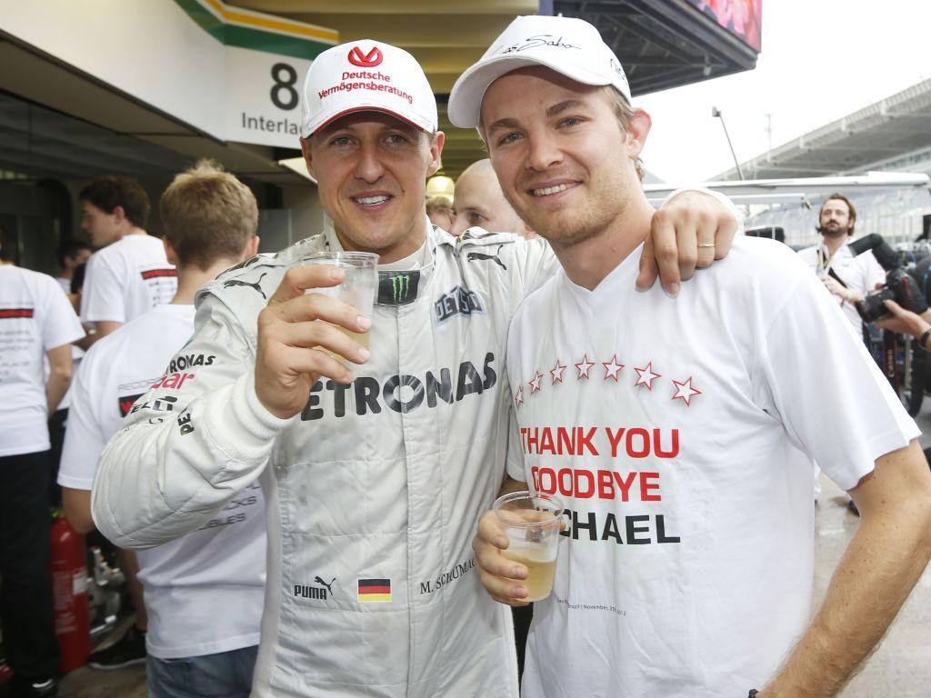 Michael Schumacher Nico Rosberg PA