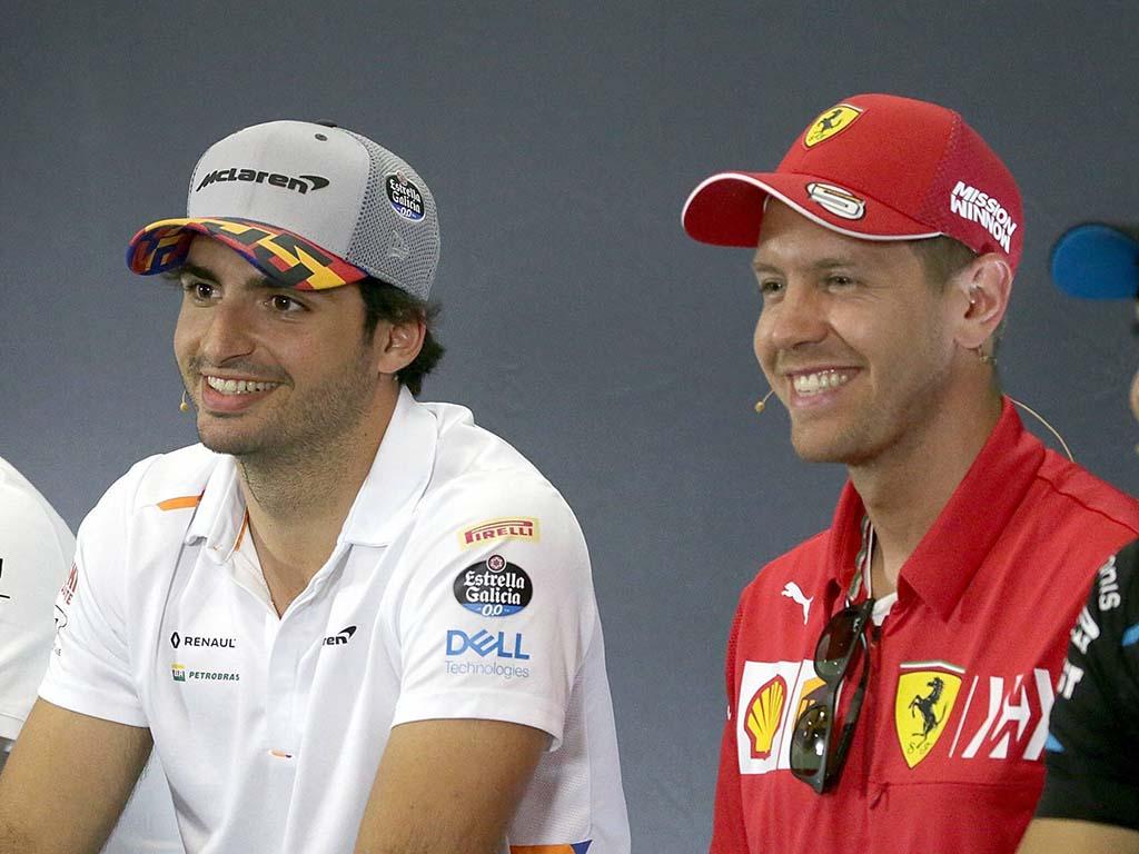Carlos Sainz Sebastian Vettel