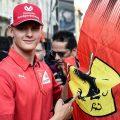 Mick Schumacher Ferrari flag pa