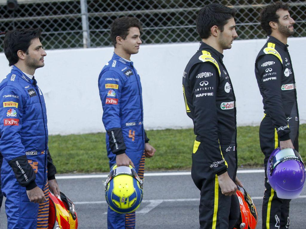 Daniel Ricciardo Esteban Ocon Lando Norris Carlos Sainz PA