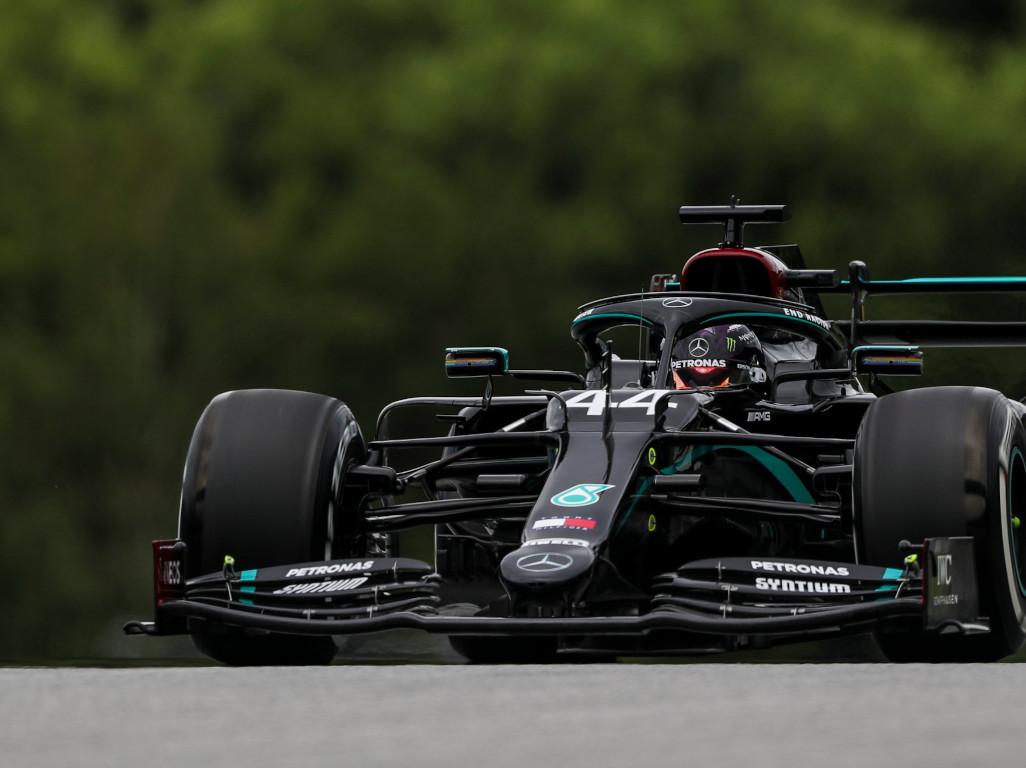 Lewis Hamilton P1 taken from Merc twitter
