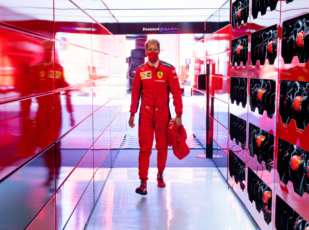Sebastian Vettel Ferrari garage