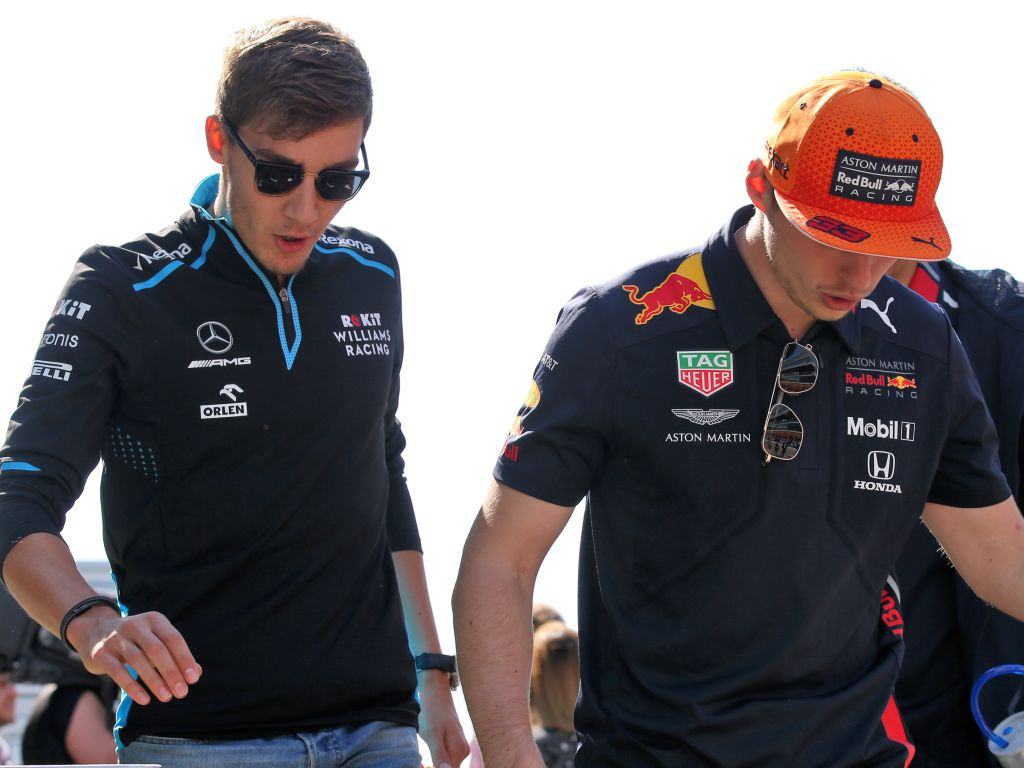 George Russell Max Verstappen PA