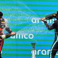 Hungarian Grand Prix podium