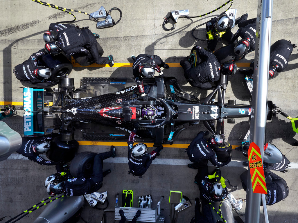 Lewis Hamilton pit stop aerial 2020.jpg