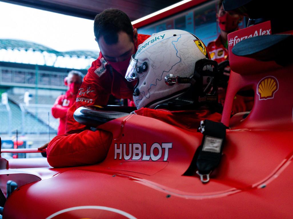 Sebastian Vettel climbs into SF1000