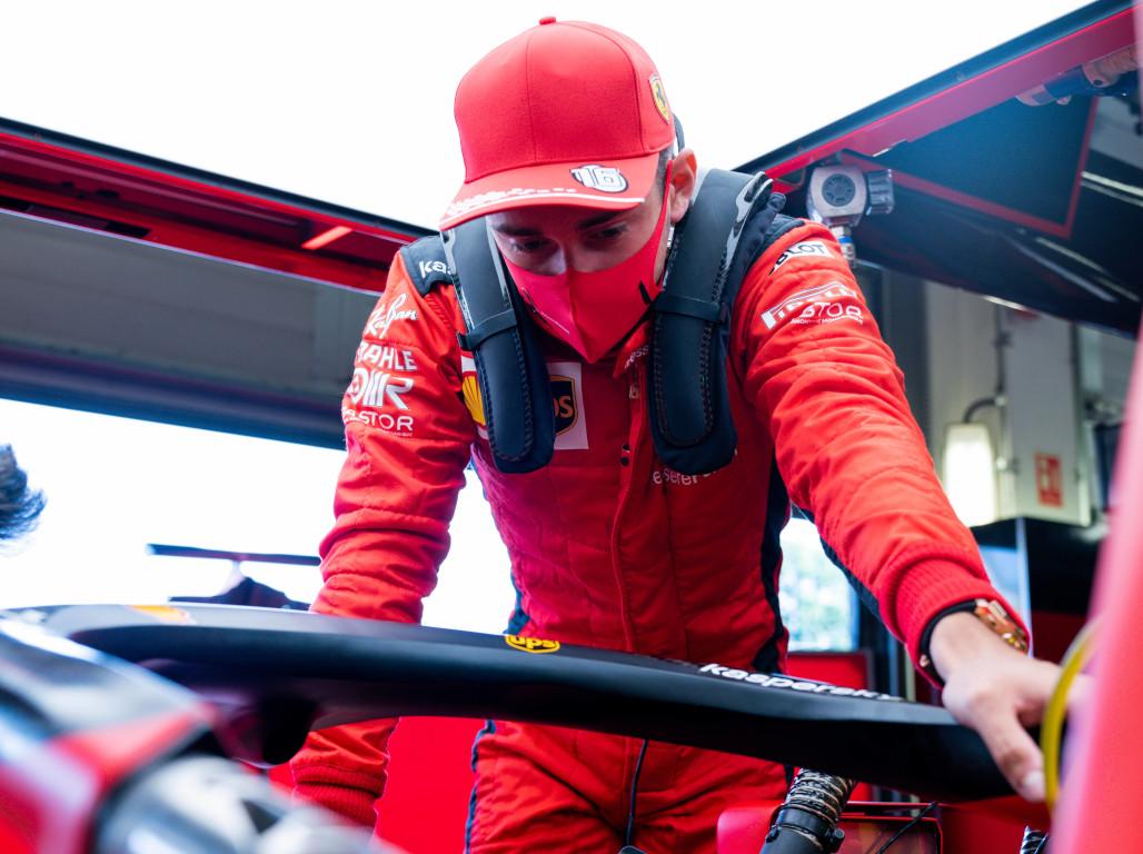 Charles Leclerc Ferrari mask