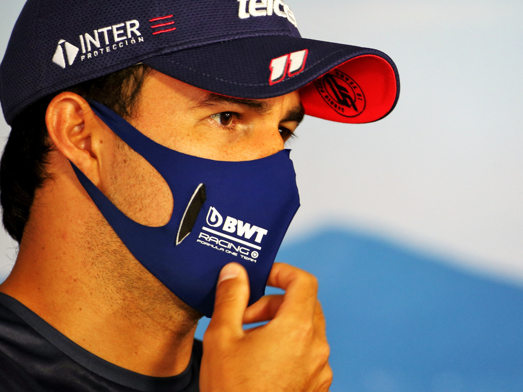 Sergio Perez face mask