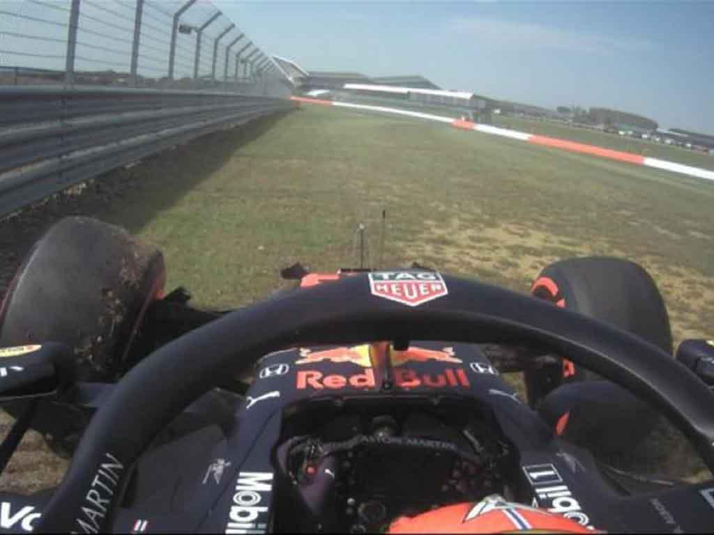 Alex Albon crash Silverstone Twitter