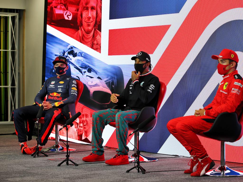 Max Verstappen Lewis Hamilton Charles Leclerc press.jpg