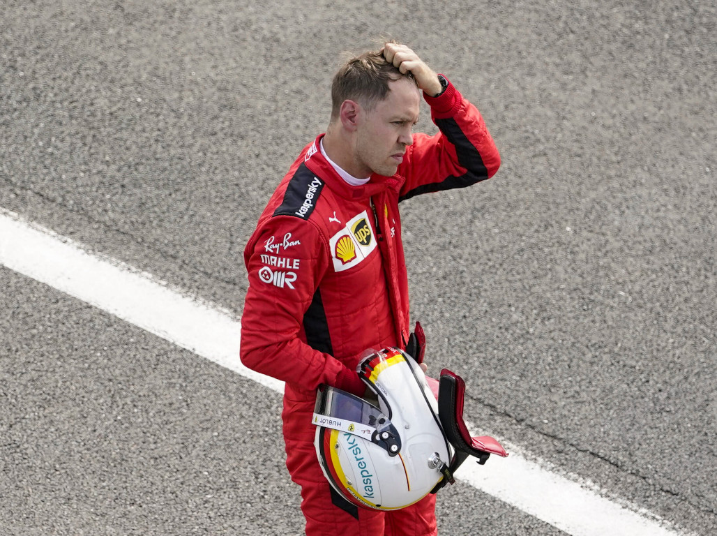 Sebastian Vettel not happy 2020