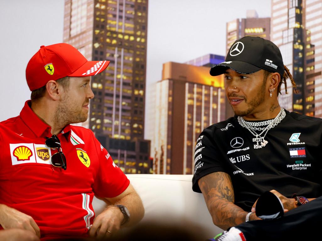 Sebastian Vettel and Lewis Hamilton interview