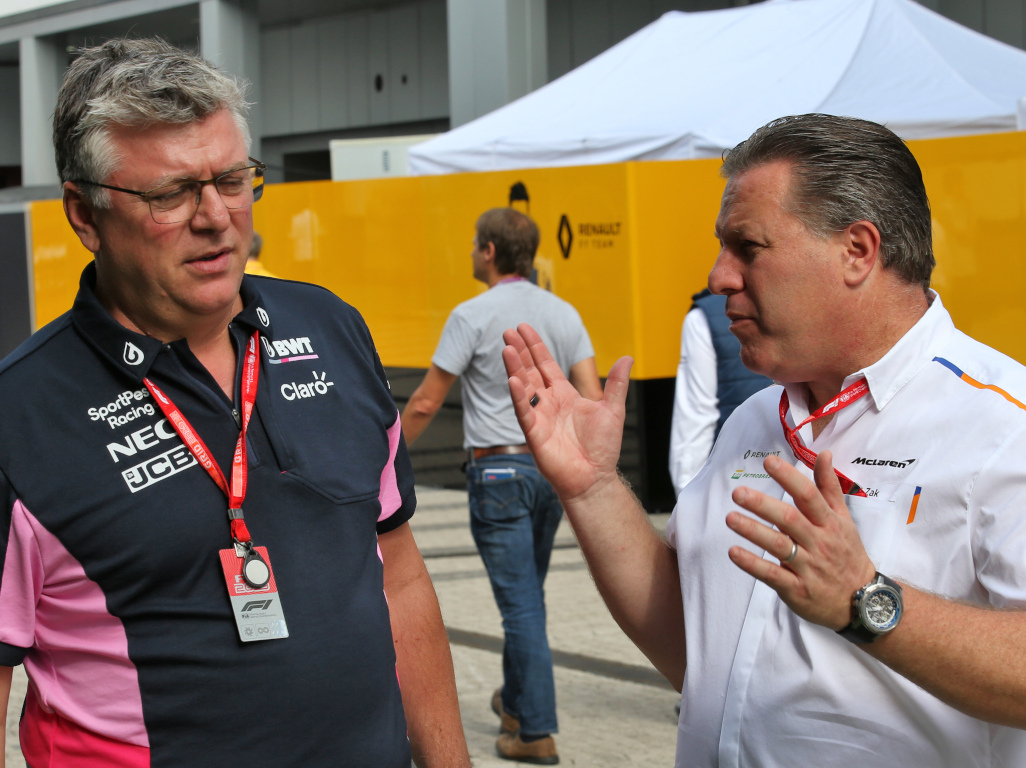 Otmar Szafnauer and Zak Brown