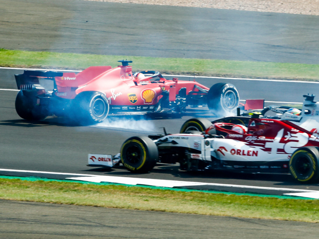Sebastian Vettel 70th Anniversary Grand Prix spin.jpg
