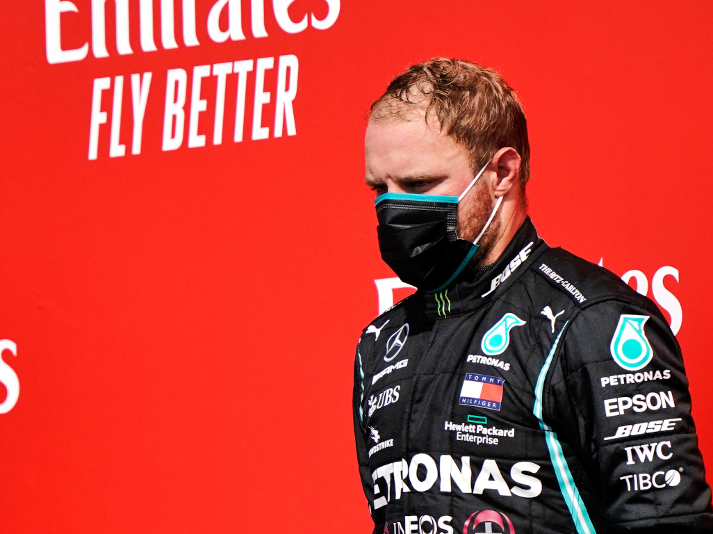 Valtteri Bottas podium not happy