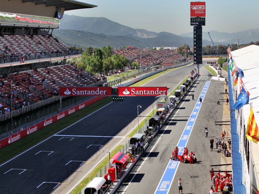 Circuit de Catalunya, home of the Spanish Grand Prix, during a practice session