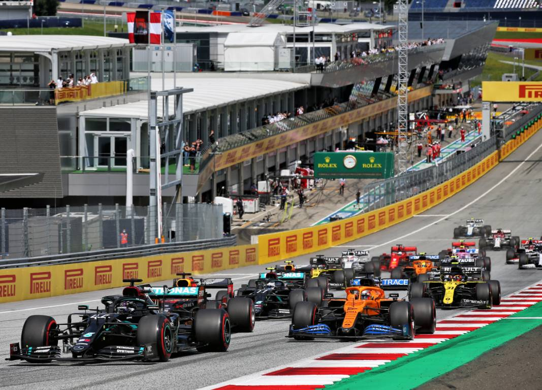 Start of the 2020 Formula 1 Styrian Grand Prix