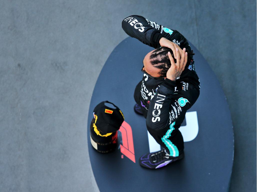 Lewis Hamilton podium