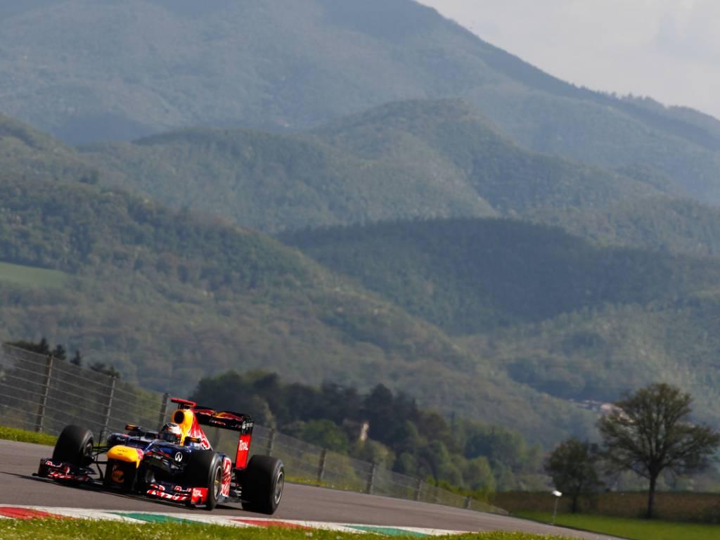 Red Bull testing at Mugello