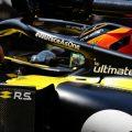 Esteban Ocon sits in Renault