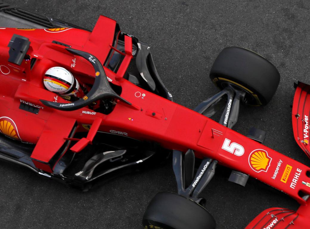 Sebastian Vettel 5 aerial