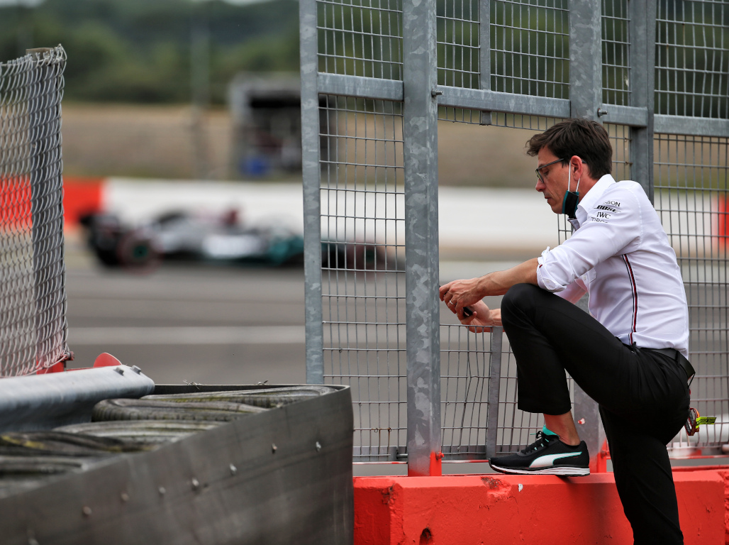 Toto Wolff Mercedes in the background