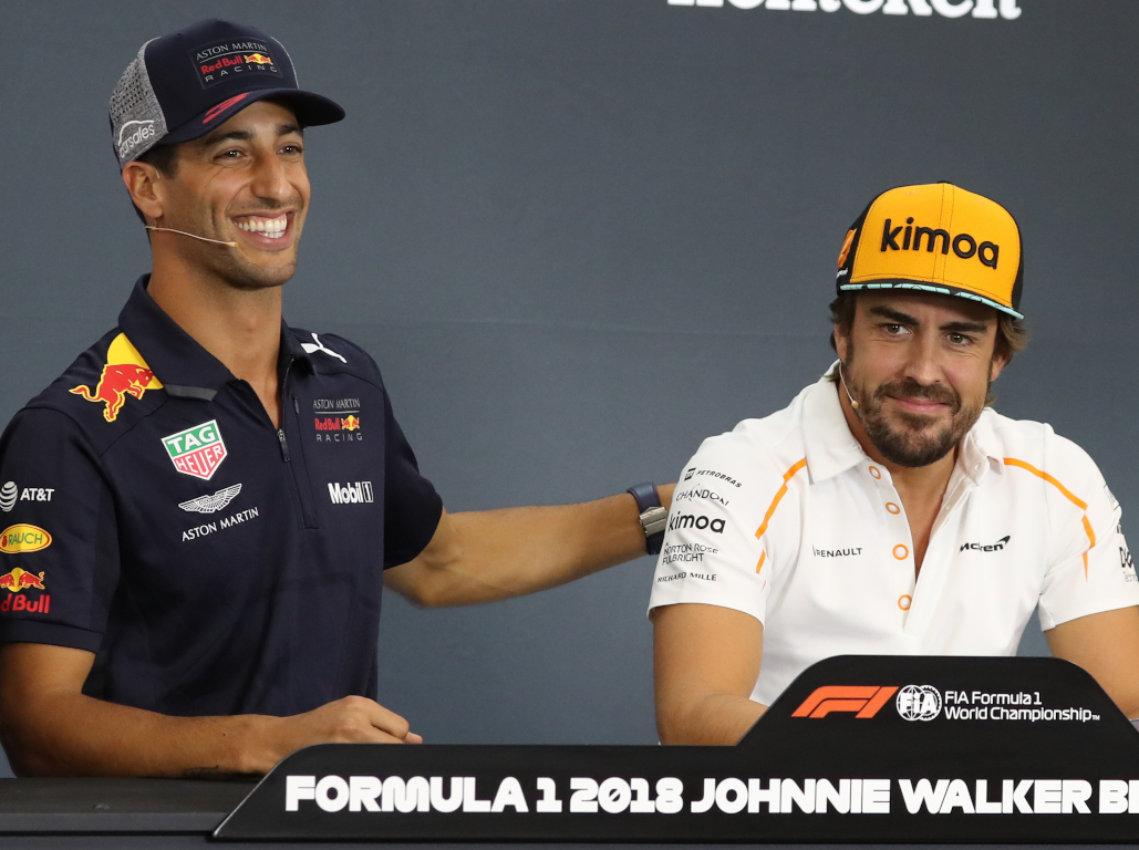 Daniel Ricciardo and Fernando Alonso