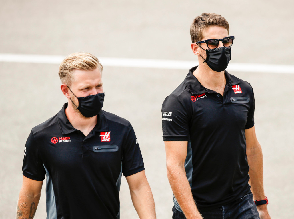 Haas Romain Grosjean and Kevin Magnussen Haas