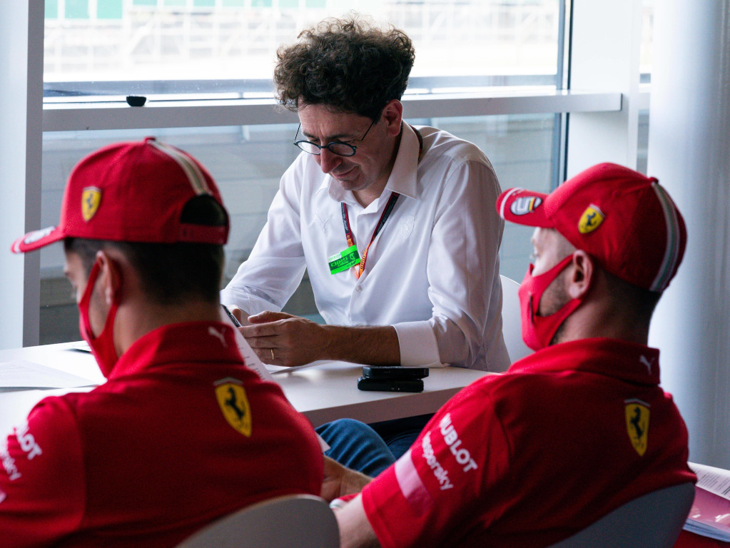 Mattia Binotto Sebastian Vettel Charles Leclerc