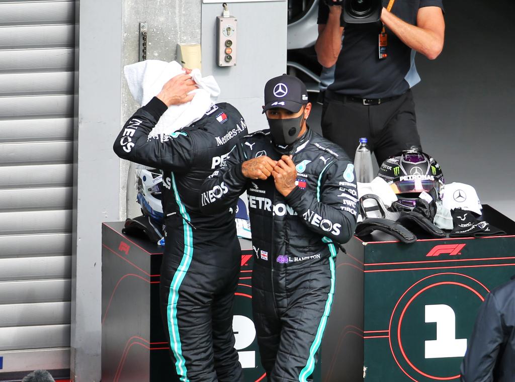 Lewis Hamilton and Valtteri Bottas qualy