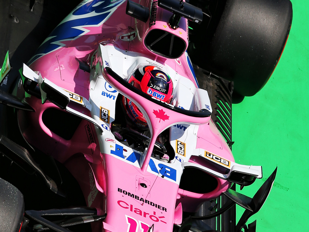 Sergio Perez Racing Point aerial