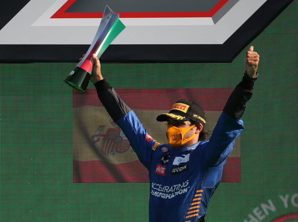 Carlos Sainz Italian GP podium