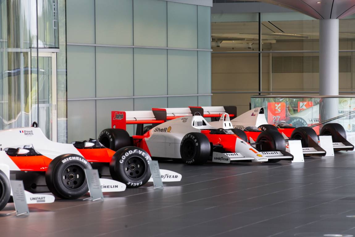 McLaren F1 cars on display at their Woking HQ