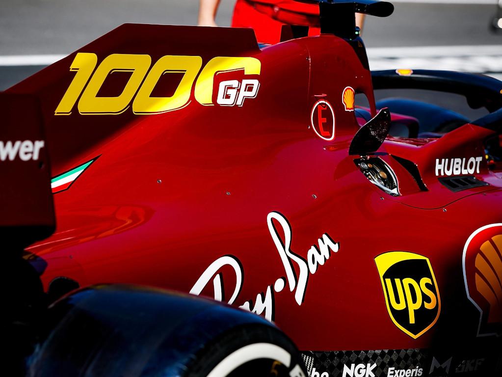 Sebastian Vettel Ferrari 1000 livery