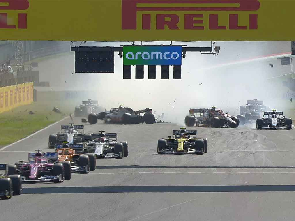 Tuscan Grand Prix crash
