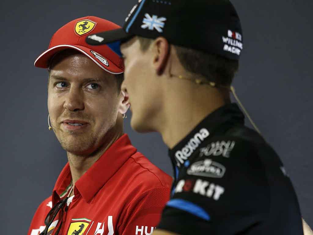 Sebastian Vettel George Russell