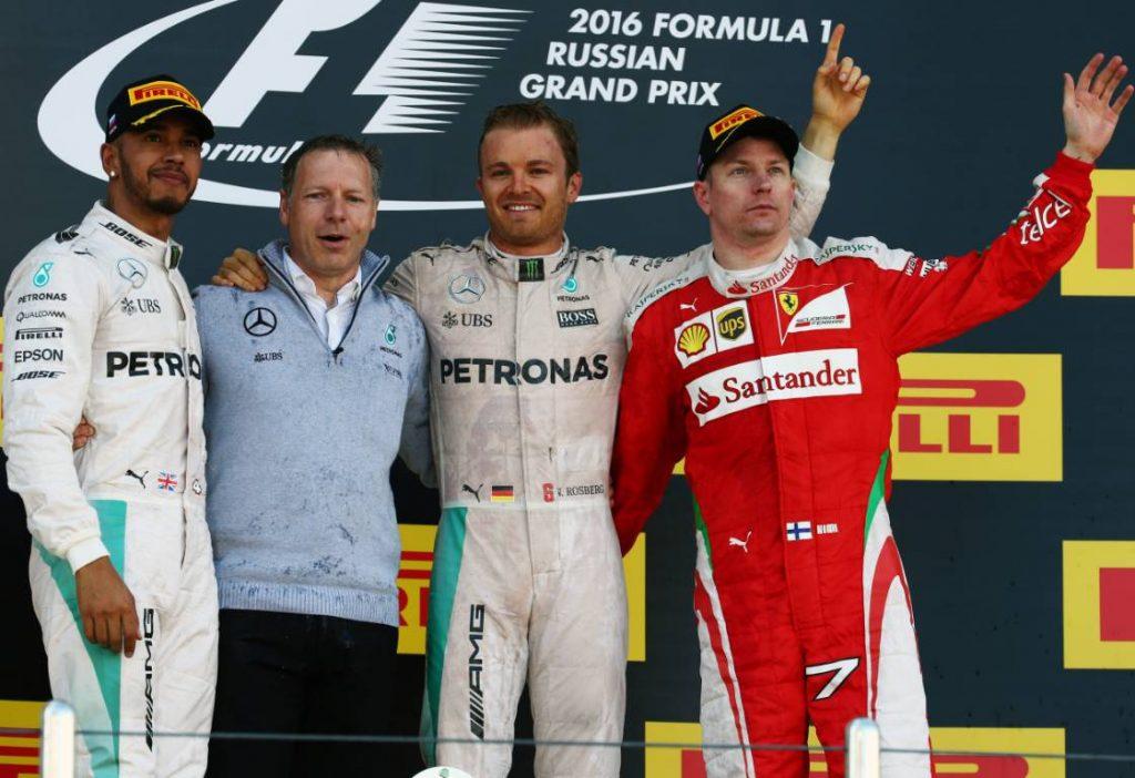 2016 Russian Grand Prix podium