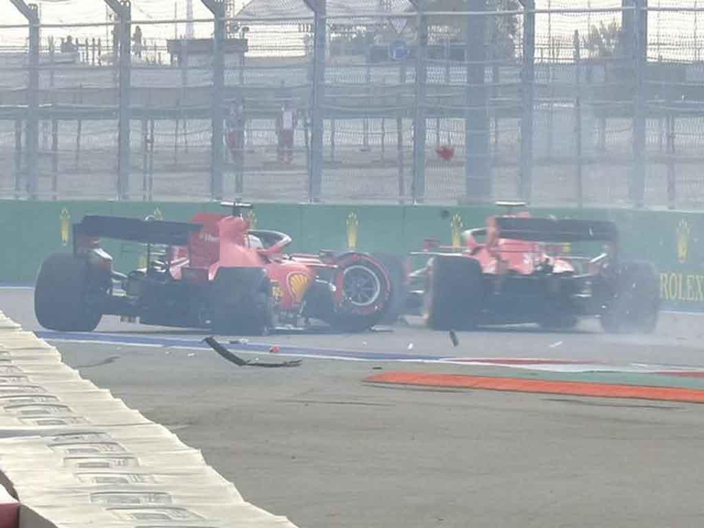 Sebastian Vettel's Russian Grand Prix qualifying crash