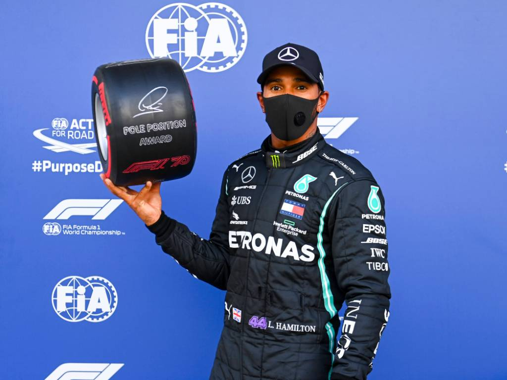 Lewis Hamilton after claiming pole position for the Russian Grand Prix