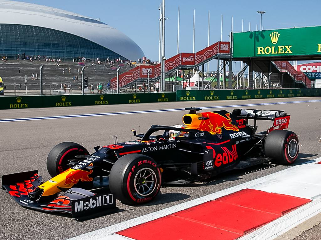 Max Verstappen Red Bull Honda at the Russian Grand Prix