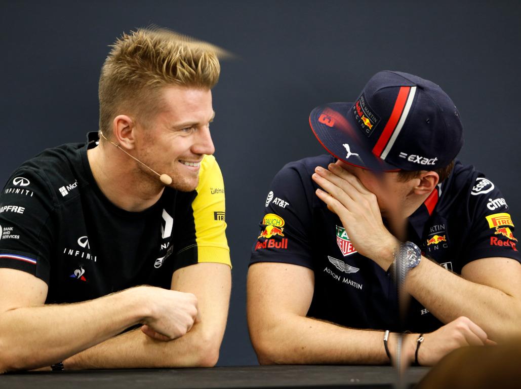 Max Verstappen and Nico Hulkenberg