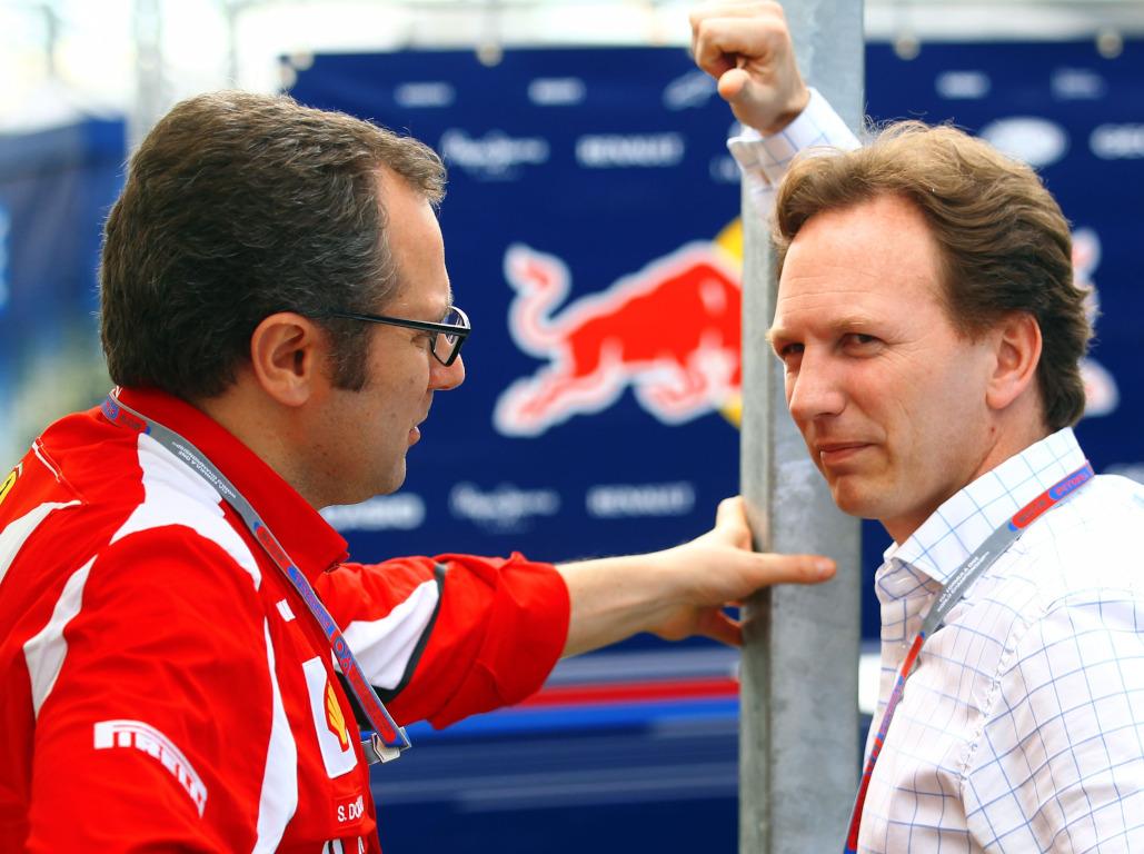Stefano Domenicali and Christian Horner