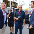 David Coulthard, Stefano Domenicali and Mark Webber
