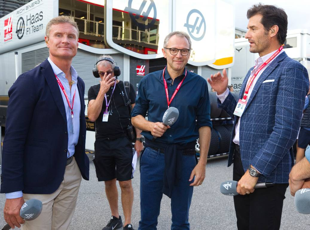 David Coulthard, Stefano Domenicali and Mark Webber