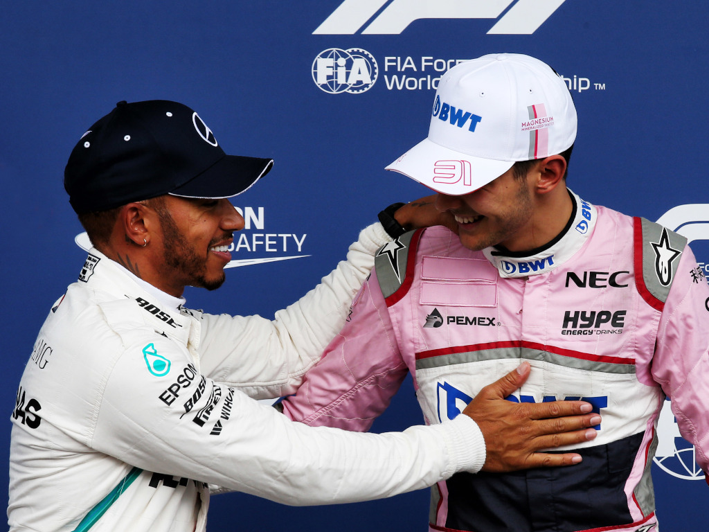 Lewis Hamilton and Esteban Ocon