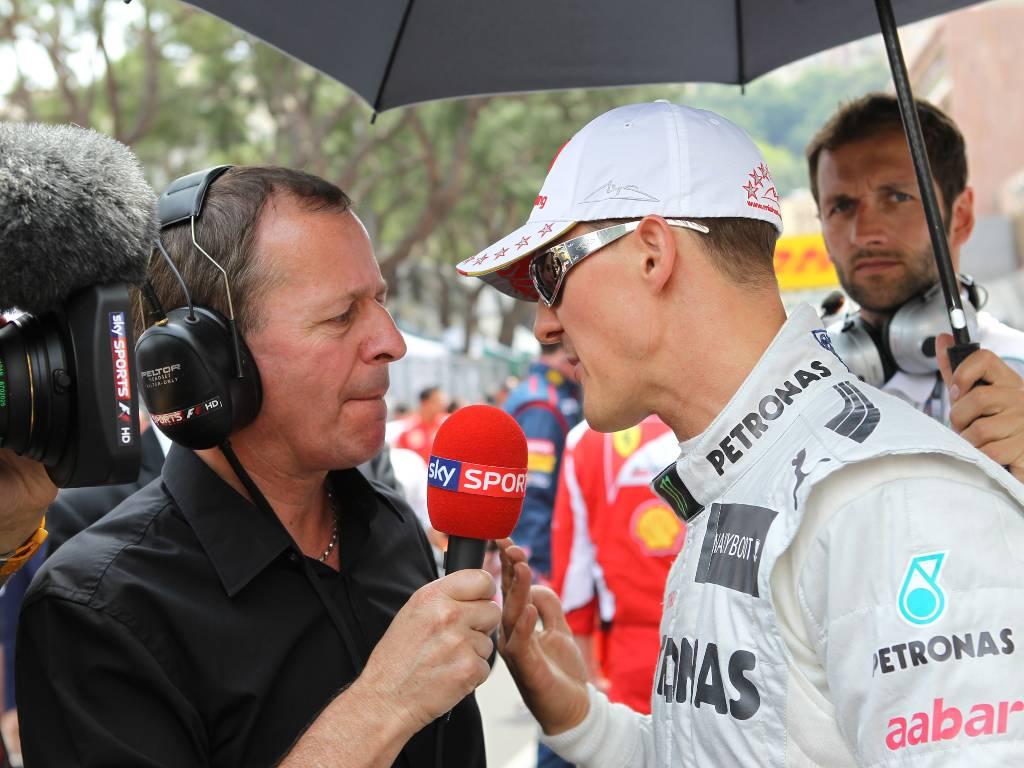 Martin Brundle interviews Michael Schumacher