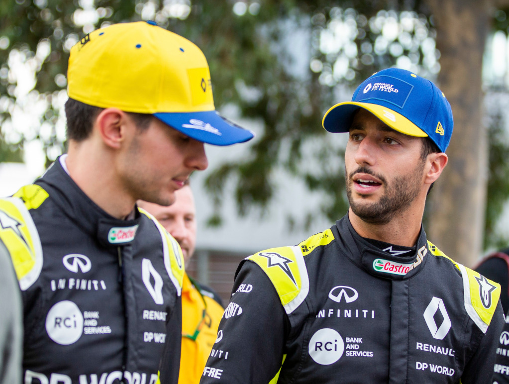 Esteban Ocon and Daniel Ricciardo