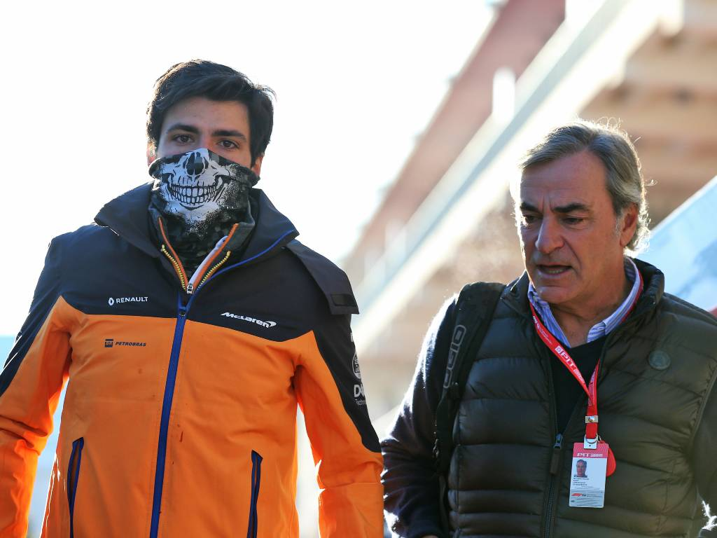 Carlos Sainz and his father